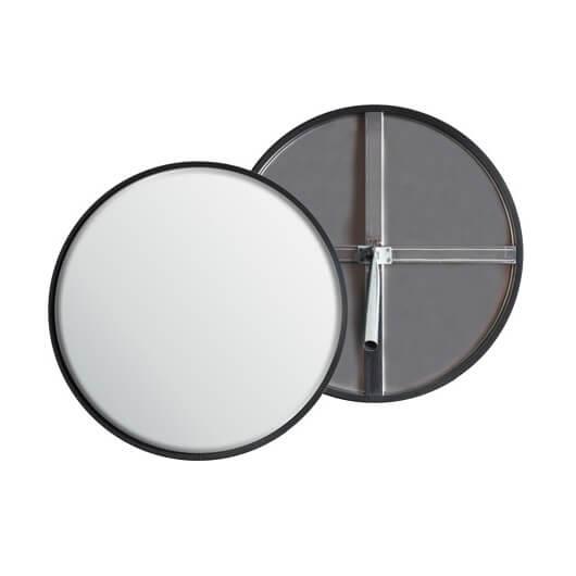 Espejo circulación acero inoxidable para interior de Ø49cm