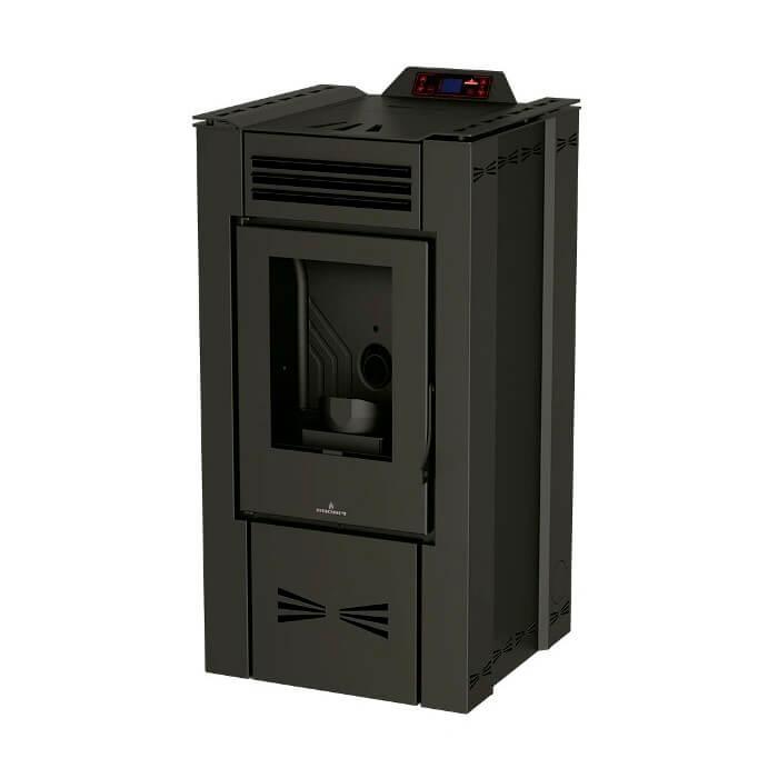Estufa de pellet Bronpi EVA-NC 15kW negra