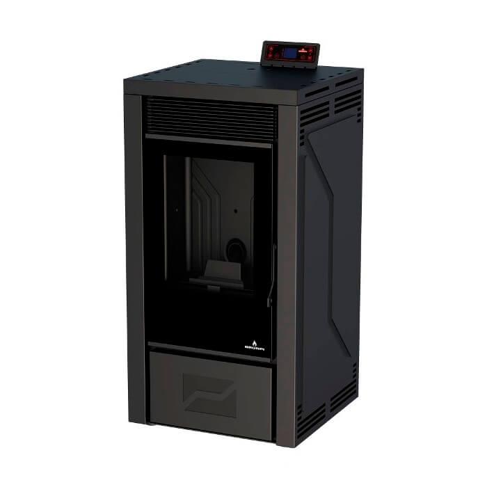 Estufa de pellet Bronpi LETICIA-NE 12kW negra