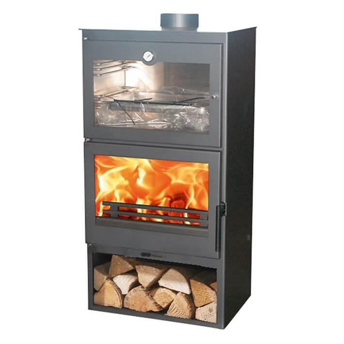 Estufa de leña horno Panadero Gourmet Ecodesign 7,1kW 220m3