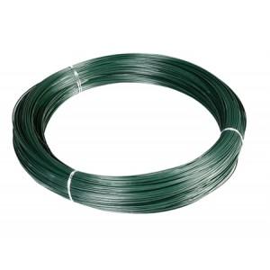 Rollo alambre plastificado verde Nº17 / Ø3mm - 5 kg