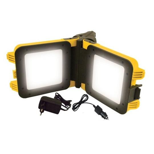 Foco de trabajo LED portátil, recargable y plegable - 20W 1600 lúmenes