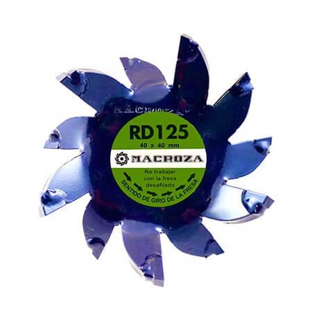 Fresa Macroza RD125 Premium de 40x40mm - Referencia RD125