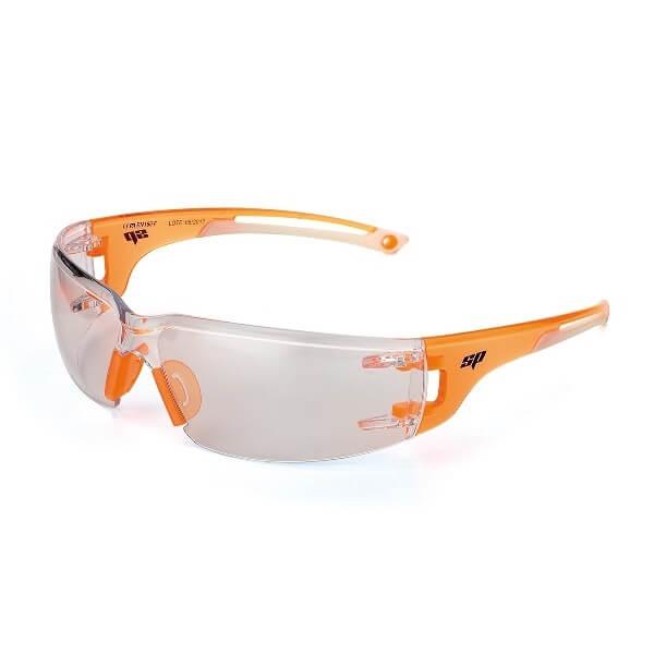 Gafas de ocular incoloro con patillas flexibles y ventiladas Mod. SILICIO
