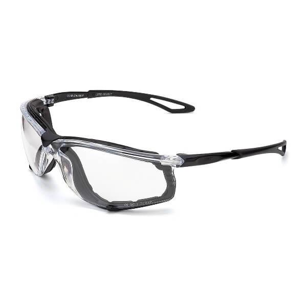 Gafas de ocular incoloro con patillas flexibles y foam anti-impactos Mod. XENON