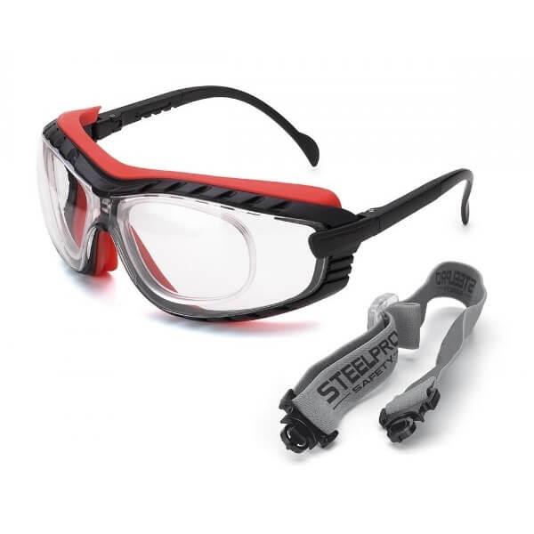 Gafas de ocular incoloro con patillas ajustables