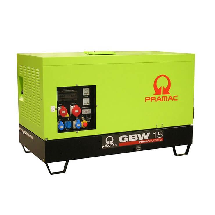 Pramac GBW 15 P Diesel ACP - Grupo electrógeno versión insonorizada - Referencia SB130TPAY02