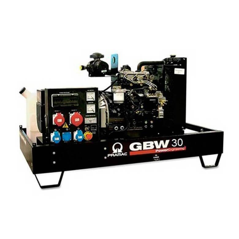 Pramac GBW 30 P Diesel ACP - Grupo electrógeno versión abierta - Referencia SH260TPAI02