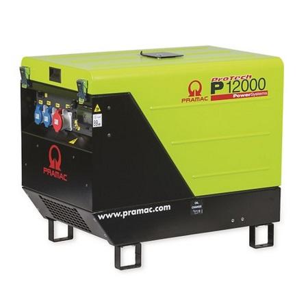 Generador Eléctrico Pramac P12000 Monofásico CONN + DPP + AVR