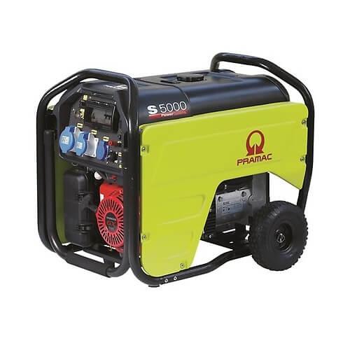 Pramac S5000 - Generador Eléctrico Monofásico AVR+IPP con Kit de transporte