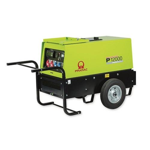 Pramac P12000 Diésel - Generador Eléctrico Trifásico CONN con ruedas incluidas