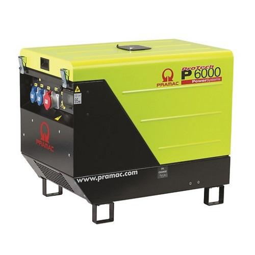 Generador Eléctrico Pramac P6000 Diésel Trifásico CONN + DPP + AVR