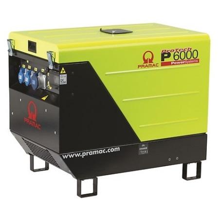 Generador Eléctrico Pramac P6000 Diésel Monofásico CONN + DPP
