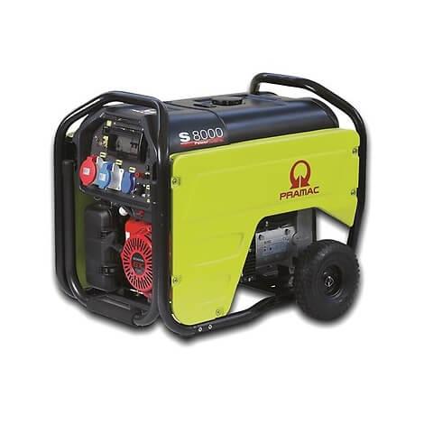 Generador Eléctrico Pramac S8000 Monofásico AVR+DPP Manual con Kit de transporte