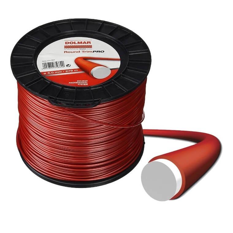 Hilo de nylon para desbrozadora Dolmar Round Trim Pro de 3mmx279m