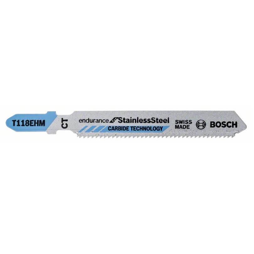 Hoja de sierra de calar Bosch T 118 EHM INOX (Caja 3 unidades)