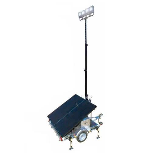 Instalación fotovoltaica IBEROLIA con Torre de iluminación Solar TIS4F