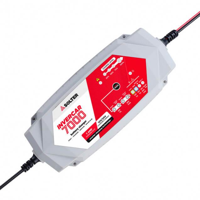 Solter INVERCAR 7000 - Cargador de batería de 12/24V - Referencia 10067