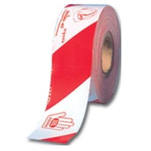 Banda de señalización de 10cm económica JAR Blanca/Roja de 200 metros