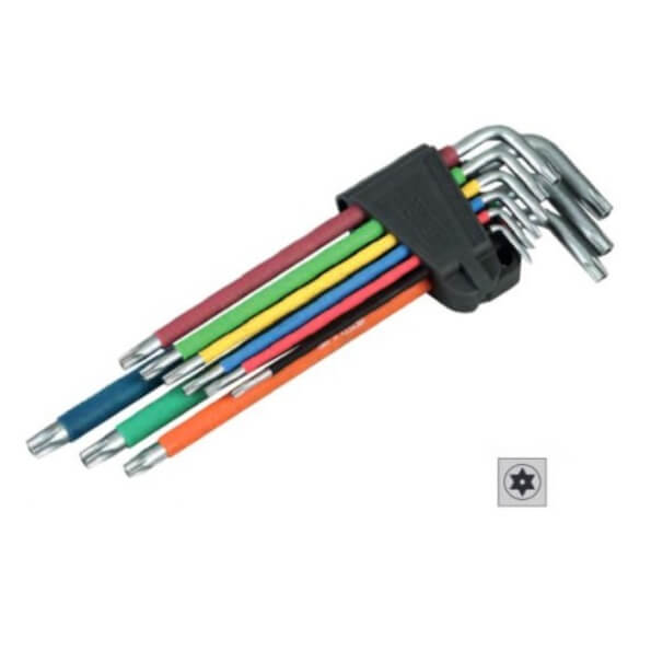 Juego llaves Torx Inviolables imantadas extralargas (9 unidades)