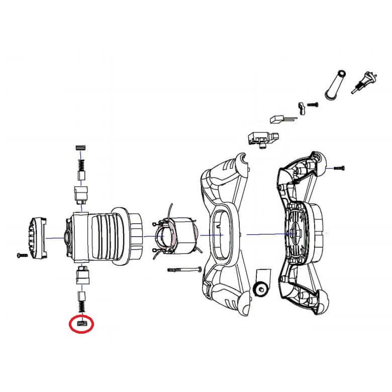 Juego tapa escobilla recambio para mezcladora Rubi DOMIX/RMIX-7 - Referencia 19416