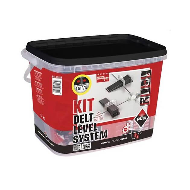 Kit Sistema de Nivelación Delta Level Rubi - 1mm (3/12mm) - Referencia 03913