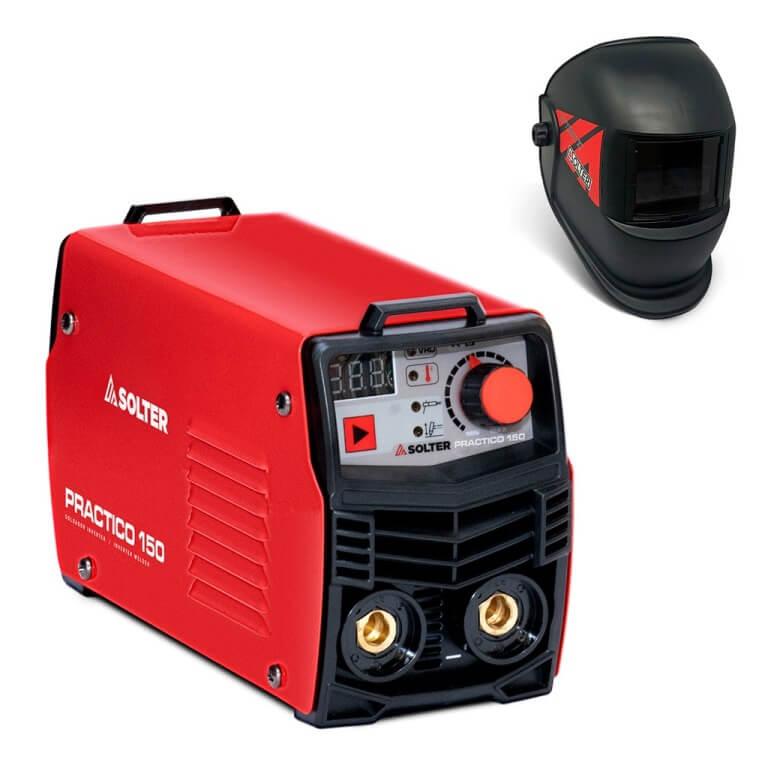 Solter PRACTICO 150 con pantalla Optimatic-55 - Soldador Inverter de 150Amp - Referencia K0240