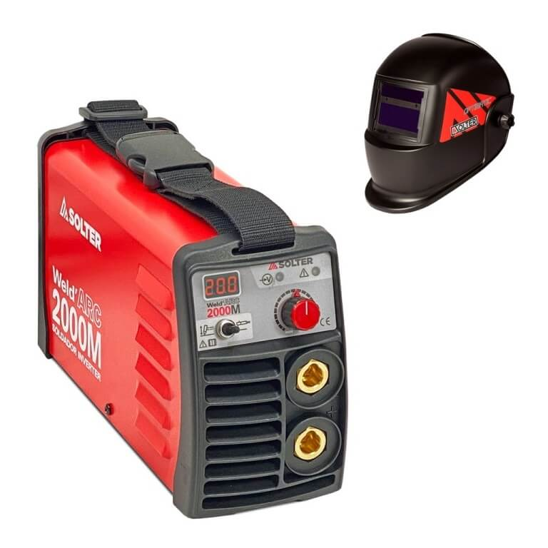 Solter WELDARC 2000 Di - Kit Soldador Inverter de 200Amp - Referencia K0250