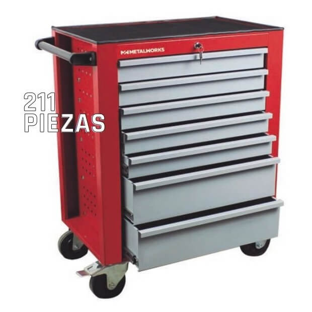 Kit para taller MetalWorks MWT211PE de 211 piezas - Referencia 855006611