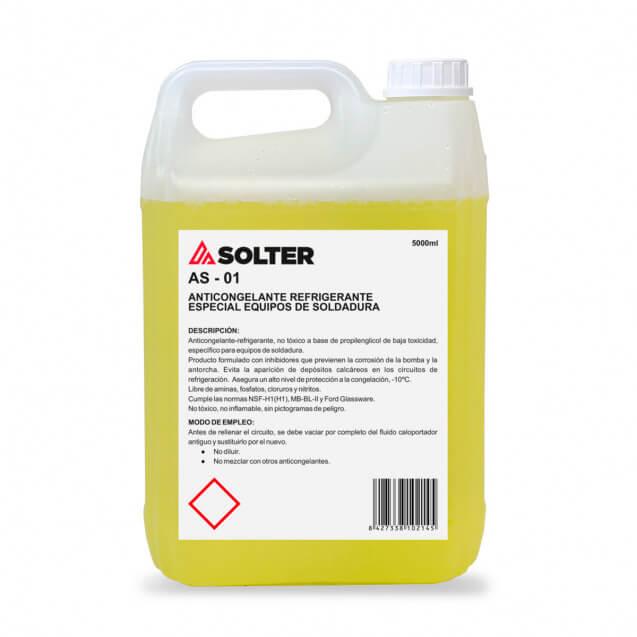 Líquido refrigerante antorchas soldadura SOLTER de 5 litros - Referencia 10214