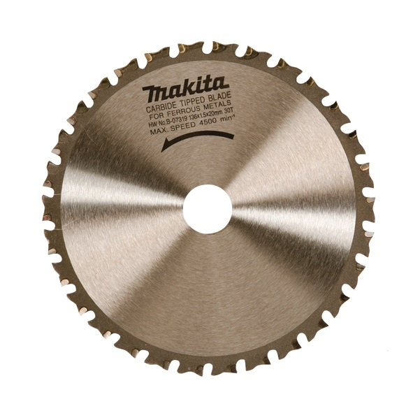 Disco HM Makita de 136x20mm especial metal - 30 dientes