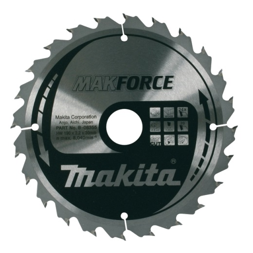Disco sierras circulares Makita MakForce - 160x20mm 16 dientes - Referencia B-08143