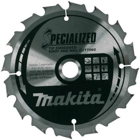 Disco sierras circulares Makita Specialized Reforzado - 165x20mm 16 dientes