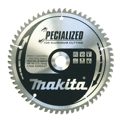 Disco HM Makita para sierras de mesa especial aluminio - 260x30mm 80 dientes