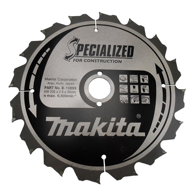 Disco sierras circulares Makita Specialized Construccion - 190x30mm 12 dientes