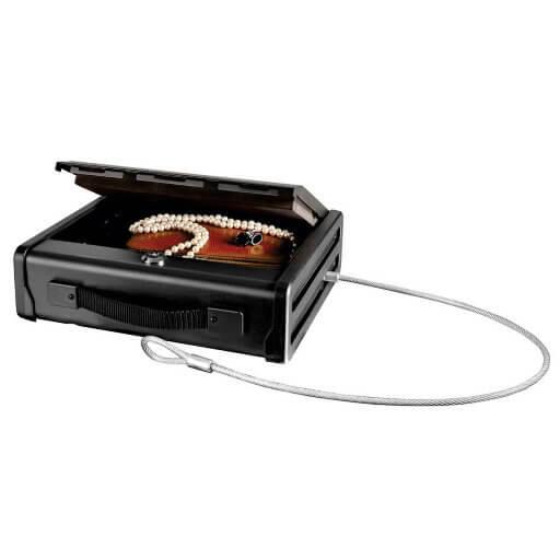 Caja fuerte maletín portátil con cable fijación Masterlock PP1KML