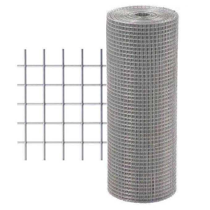 Malla electrosoldada galvanizada de 6x6x0'6mm - 0'6x25 metros