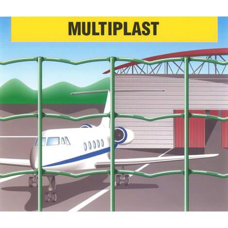Malla electrosoldada plastificada Multiplast 50x60mm - 2x25 metros
