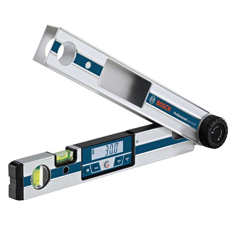 Bosch GAM 220 MF Professional - Medidor de ángulos digital con cálculo inglete y bisel - Referencia 0601076600