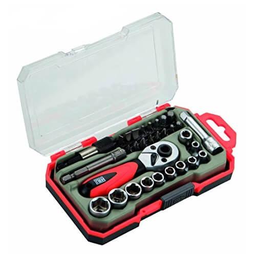 Minijuego de llaves de vaso HR 1/4' - 31 piezas