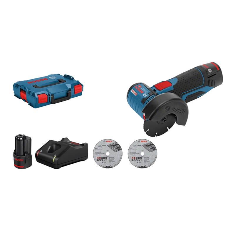 Bosch GWS 12V-76 Professional en L-BOXX con 2 baterías - Miniamoladora a batería - Referencia 06019F200B