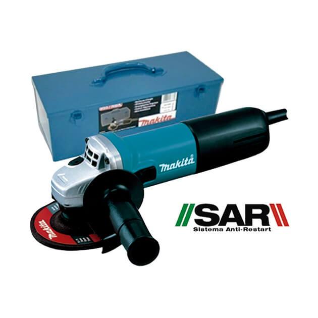 Miniamoladora Makita 9557NBRK1 - 115mm 840W SAR - Referencia 9557NBRK1