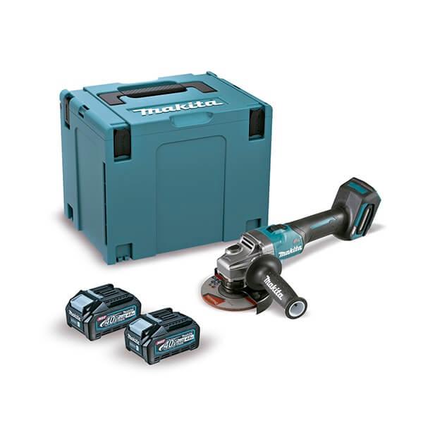 Makita GA005GM201 con 2 baterías 4Ah - Miniamoladora angular 40Vmáx XGT 125mm - Referencia GA005GM201