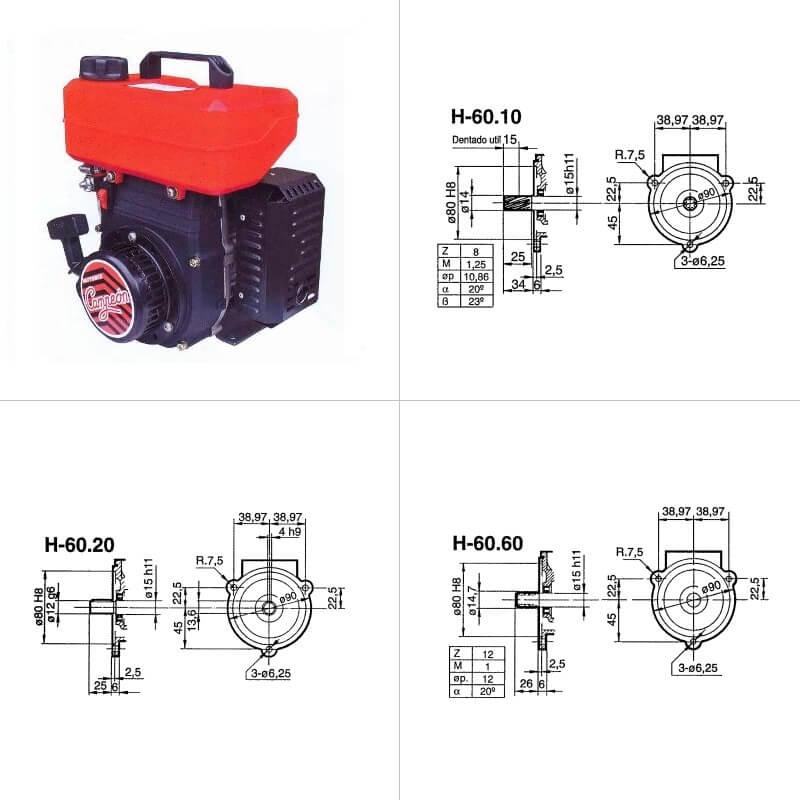 Motor Gasolina 2 Tiempos Campeon H-60.20