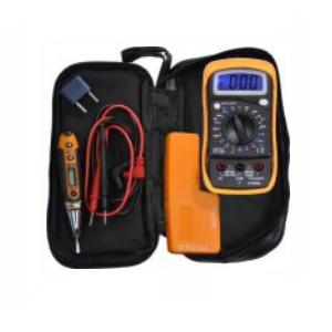 Set medición electricista - Multímetro, detector metales y detector tensión