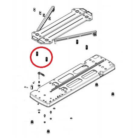 Muelle compresión Rubi de 35,2x13 Ø1,7