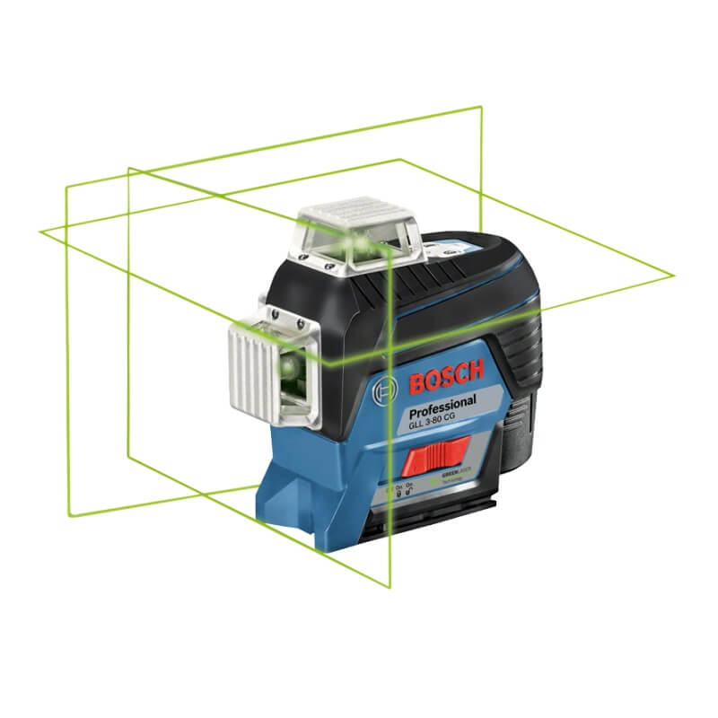 Nivel láser autonivelante de líneas verdes Bosch GLL 3-80 CG + BM 1 Professional