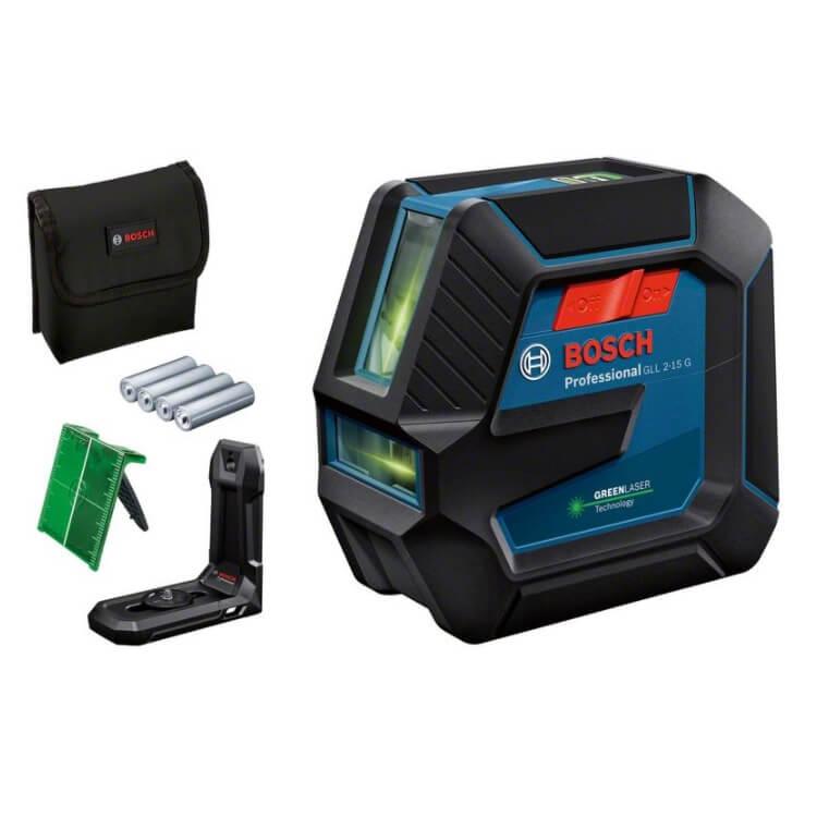 Bosch GLL 2-15 G - Nivel láser de líneas verdes - Referencia 0601063W00