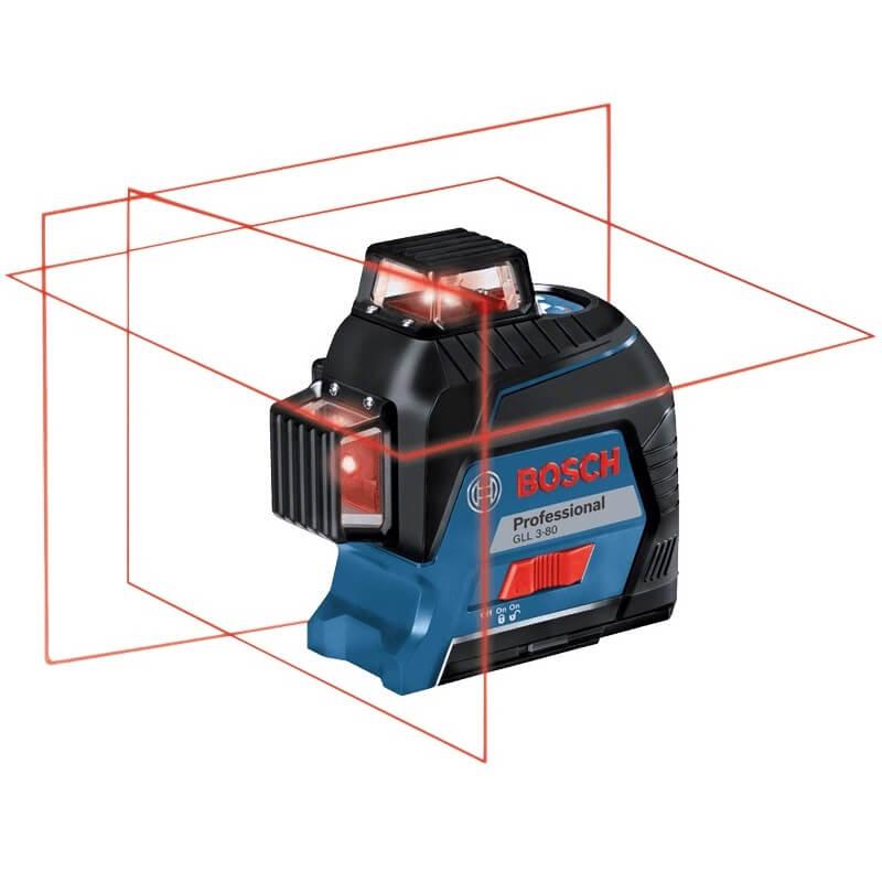 Bosch GLL 3-80 Professional - Nivel láser de líneas autonivelante