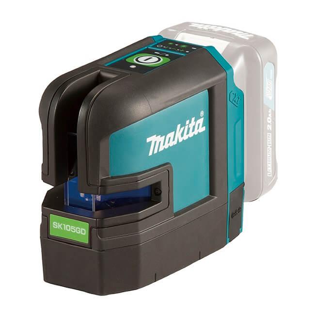 Makita SK105GDZ - Nivel láser en cruz verde 12Vmax CXT